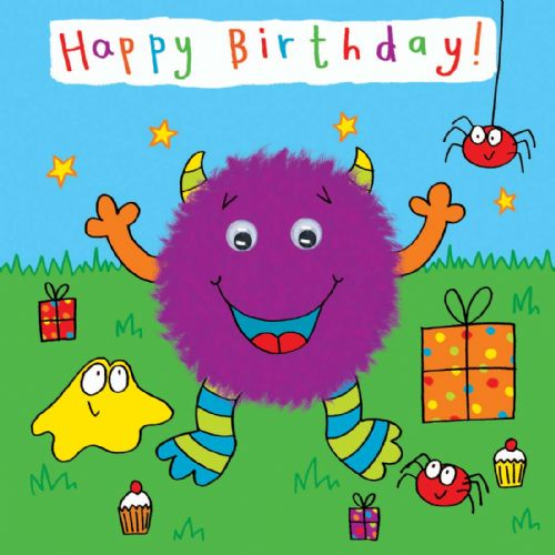 Childrens Birthday Card - Monster